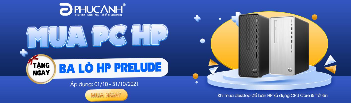 MUA PC HP - TẶNG BALO SÀNH ĐIỆU