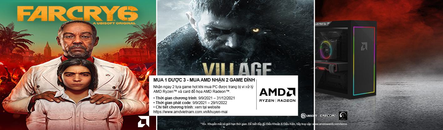 MUA 1 TẶNG 3 - MUA AMD NHẬN 2 GAME ĐỈNH