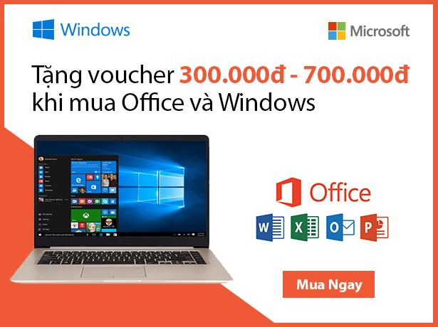 TẶNG VOUCHER TỚI 700.000Đ KHI MUA OFFICE VỚI WINDOW