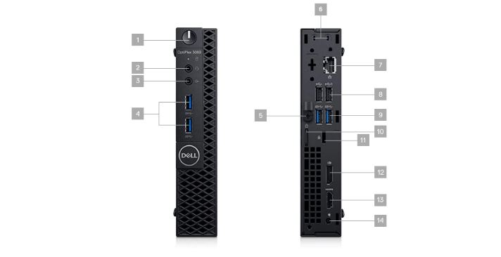 Desktop |Máy tính bàn | Máy tính để bàn | Dell Mini Optiplex 3060 Micro -  42OC360003