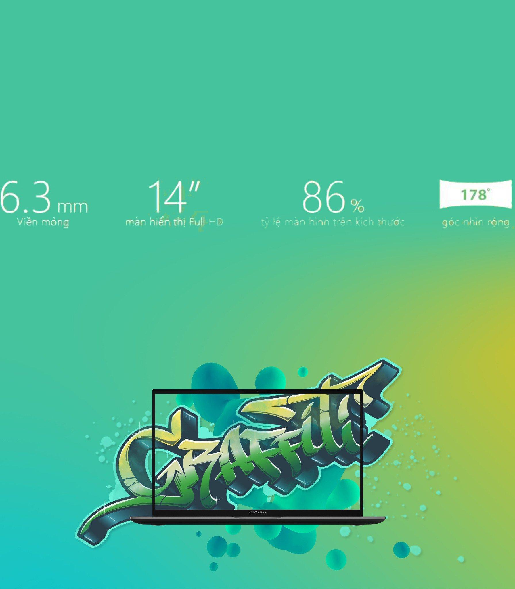 Laptop Asus S431FA-EB075T (Xanh coban)-Ultra Slim