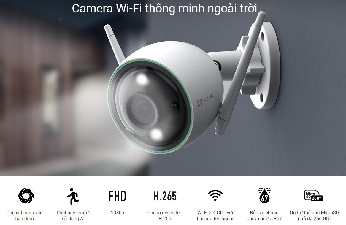Camera quan sát ngoài trời IP wifi EZVIZ CS-C3N - 2MP