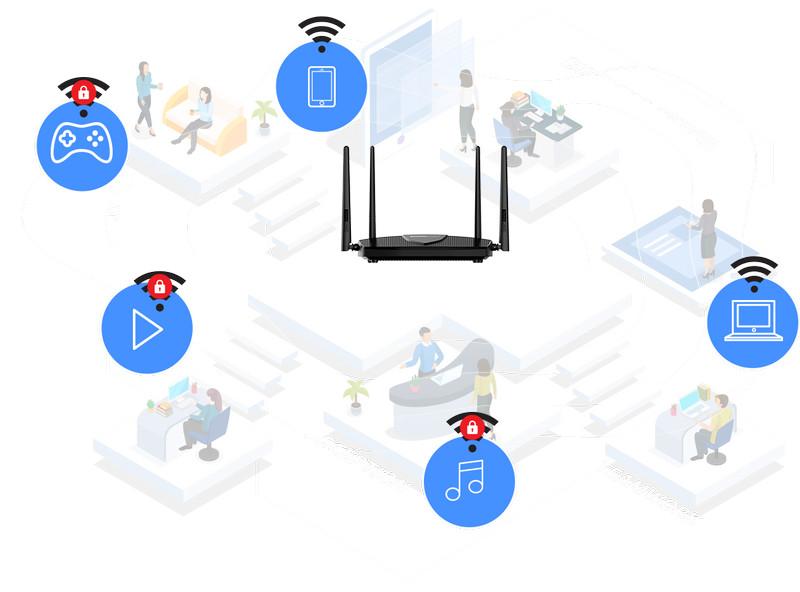 Bộ phát wifi 6 Totolink X5000R MU-MIMO băng tần kép Gigabit AX1800
