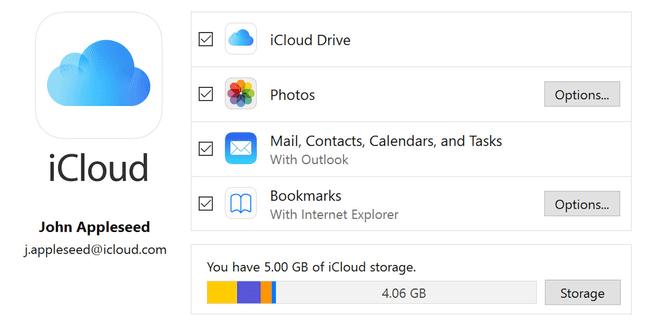 Apple ra mắt iCloud phiên bản mới tương thích với Windows 10 October 2018