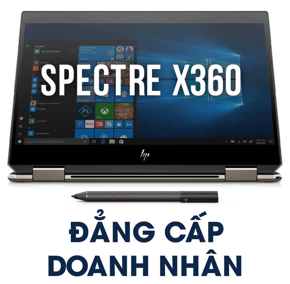 """[REVIEW] HP SPECTRE X360 - MẪU ULTRABOOK """"LAI"""" MỎNG NHẸ ĐẲNG CẤP DOANH NHÂN"""