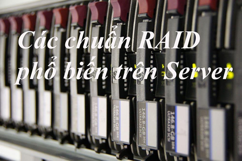 Các chuẩn Raid phổ biến trên hệ thống máy Server