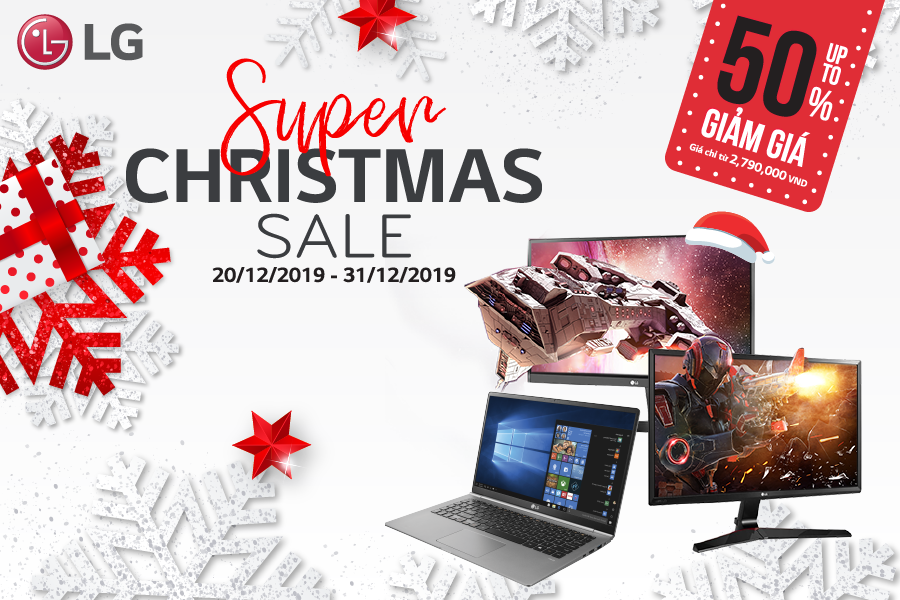 SUPER SALE - MỪNG GIÁNG SINH GIẢM SỐC TỚI 50%