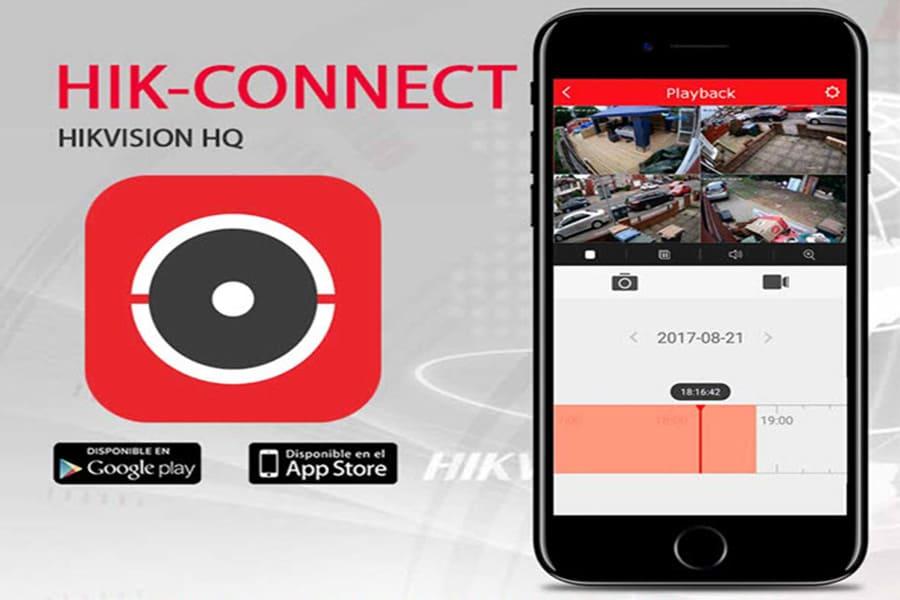 Ứng dụng kết nối camera với điện thoại Android, ứng dụng theo dõi camera trên Iphone - Camera Hikvision