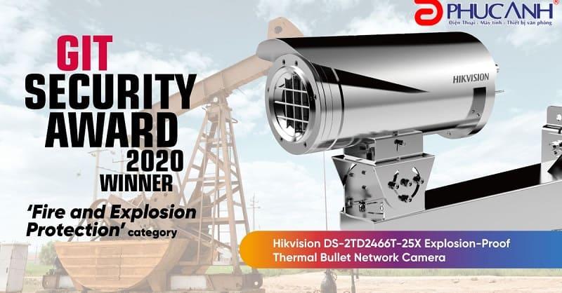 Camera giám sát Hikvision DS-2TD2466T-25X : Chống cháy nổ, đạt giải thưởng GIT SECURITY 2020.