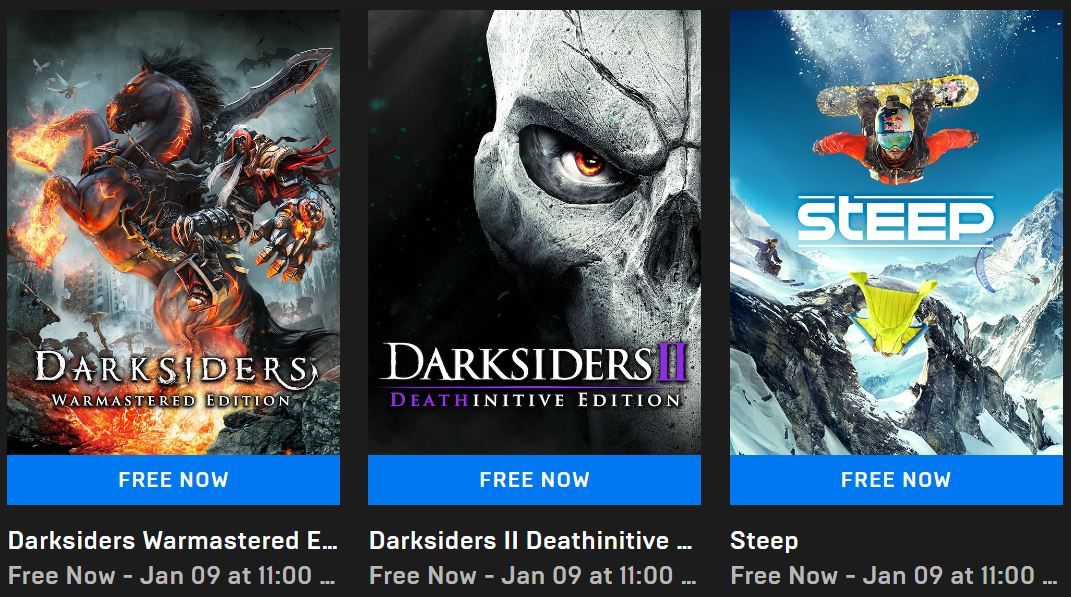 [Game miễn phí] Nhanh tay nhận Darksiders: Warmastered Edition, Darksiders 2: Deathinitive Edition và Steep