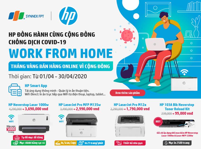 [KHUYẾN MẠI] Work from home - HP đồng hành cùng cộng đồng chống dịch Covid 19