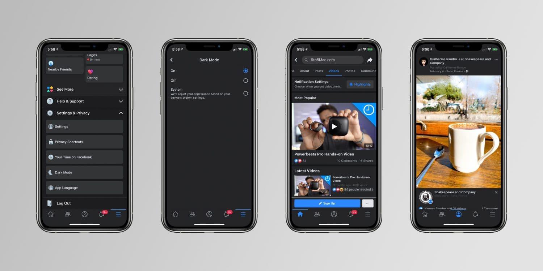 Chế độ Dark Mode có thể sẽ nhuộm đen facebook trong thời gian tới
