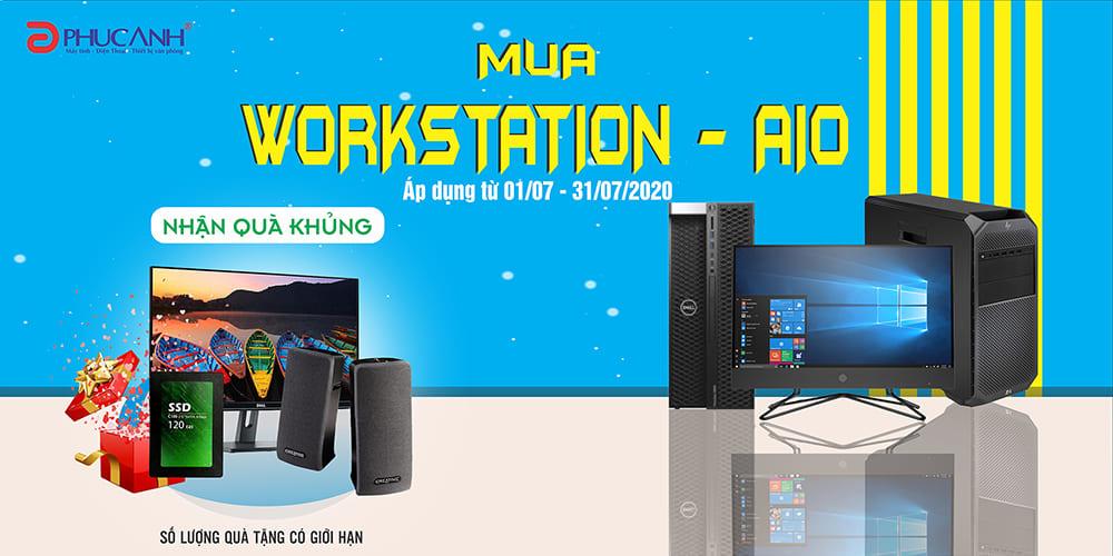 [Khuyến mãi tháng 7] Mua Workstation nhận quà tặng khủng