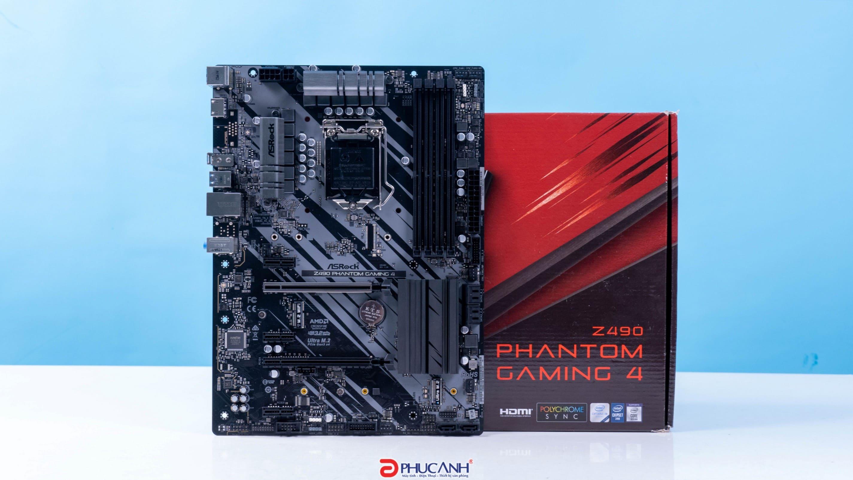 [UNBOX] ASROCK Z490 PHANTOM GAMING 4 - BO MẠCH CHỦ Z490 NGON BỔ NHẤT CHO GAME THỦ