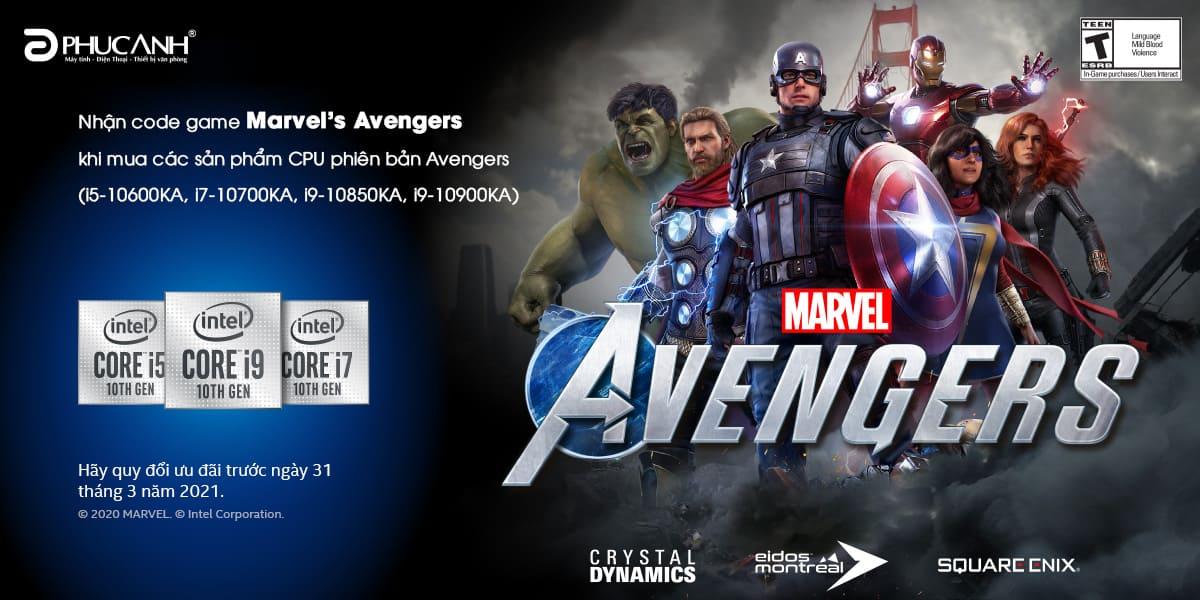 [Khuyến mãi] Mua CPU Intel - Nhận code game Marvel's Avengers ''HOT HIT''