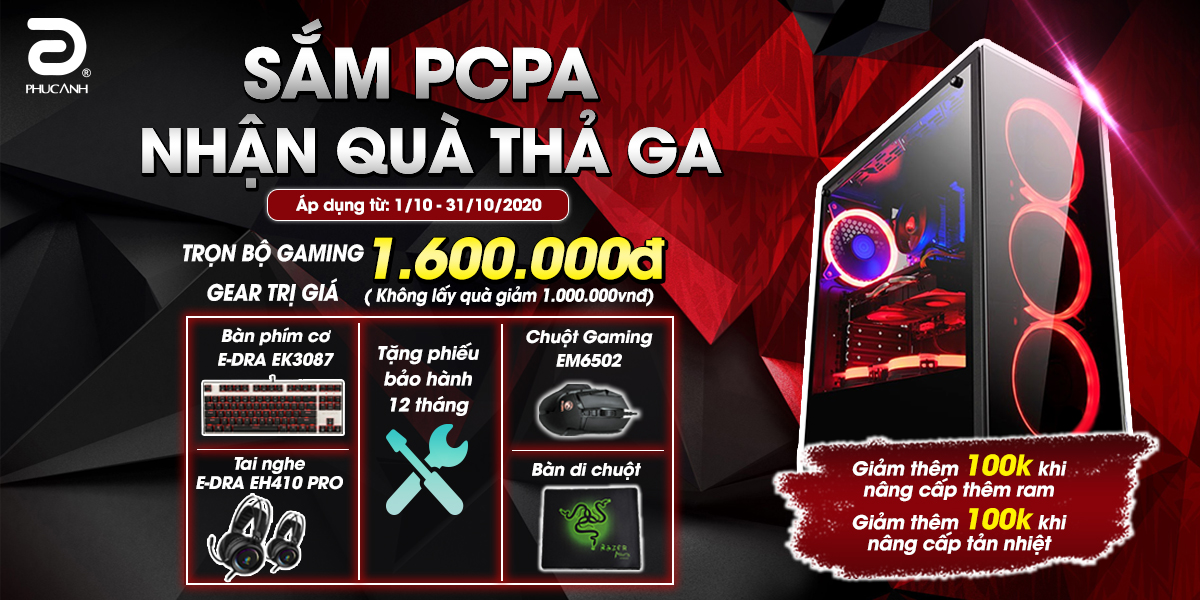 [Khuyến mãi] Sắm PCPA - Quà nhận thả ga