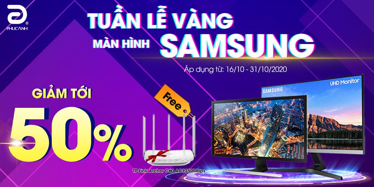[Khuyến mãi] Tuần lễ Vàng - Màn hình Samsung giảm tới 50%