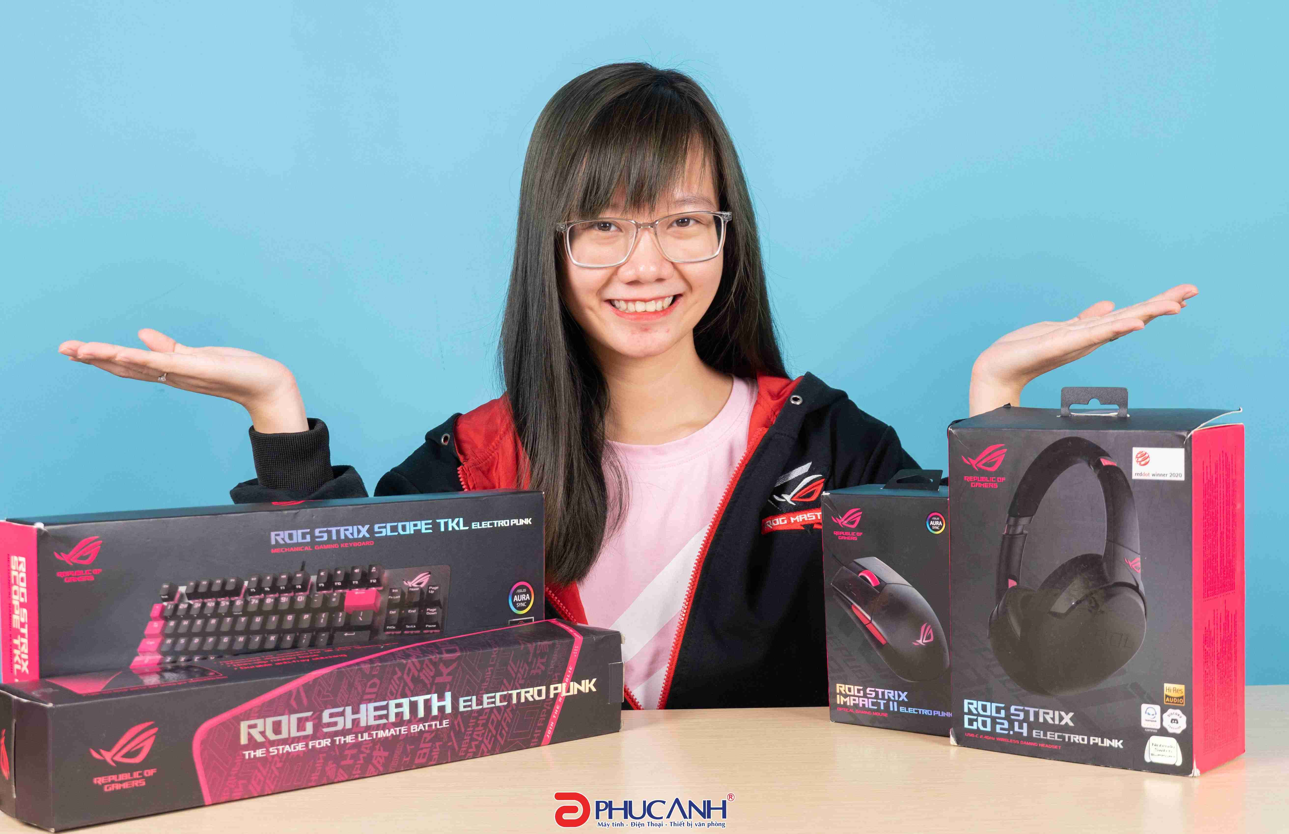 [Review] Combo BlackPink Asus Rog Electro Punk