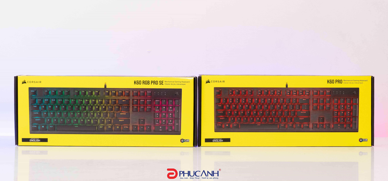 [Review] Đôi bàn phím cơ mới của thương hiệu Corsair | K60 Pro & K60 RGB Pro SE