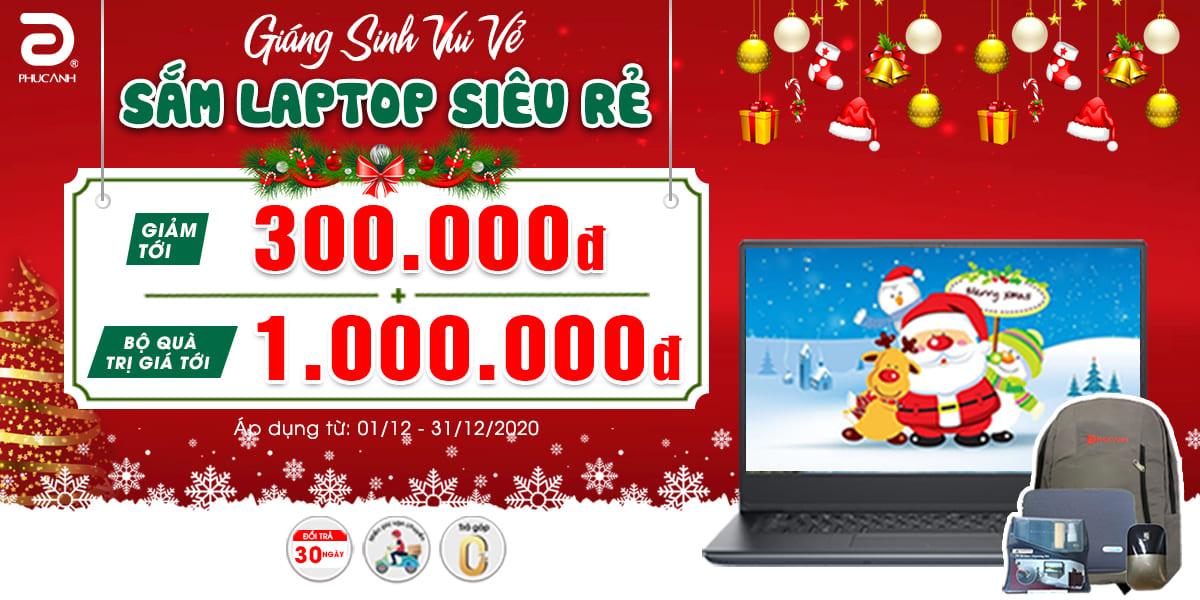 Giáng sinh vui vẻ - Sắm laptop siêu rẻ