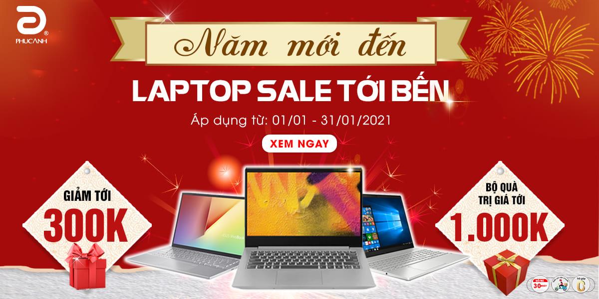 Năm mới đến - Laptop sale tới bến
