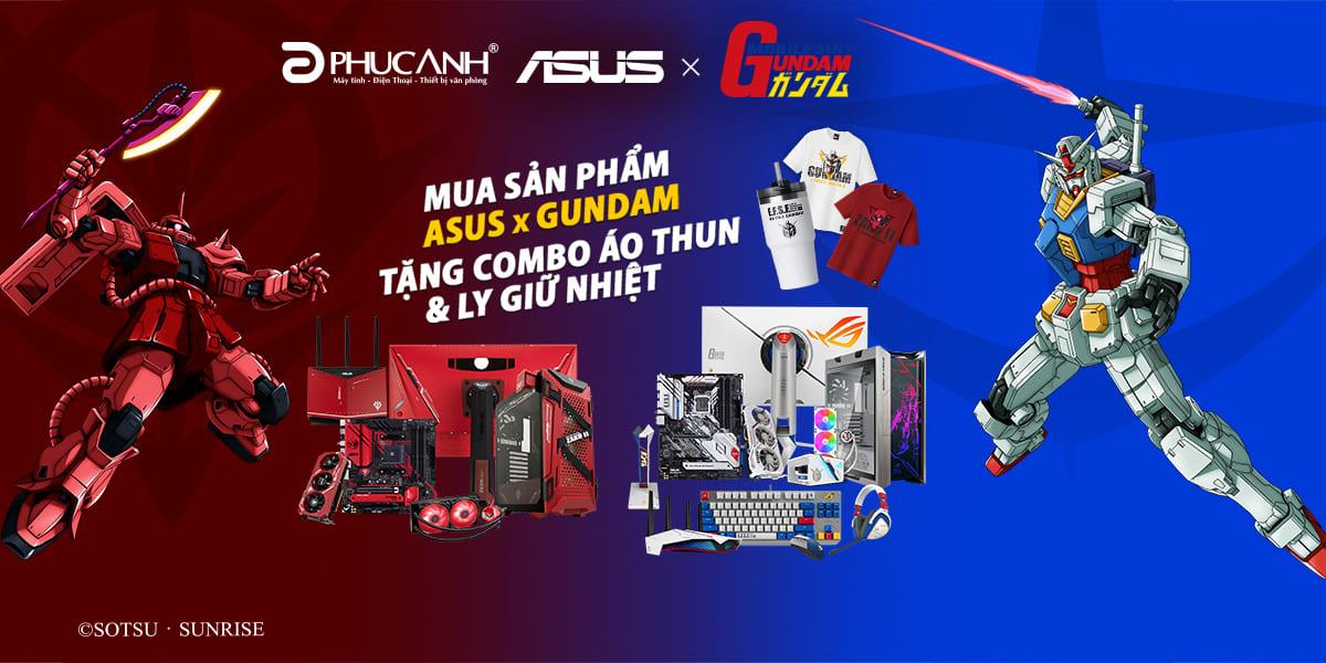 [Khuyến mại] Mua Asus Gundam tặng set quà 2 triệu đồng