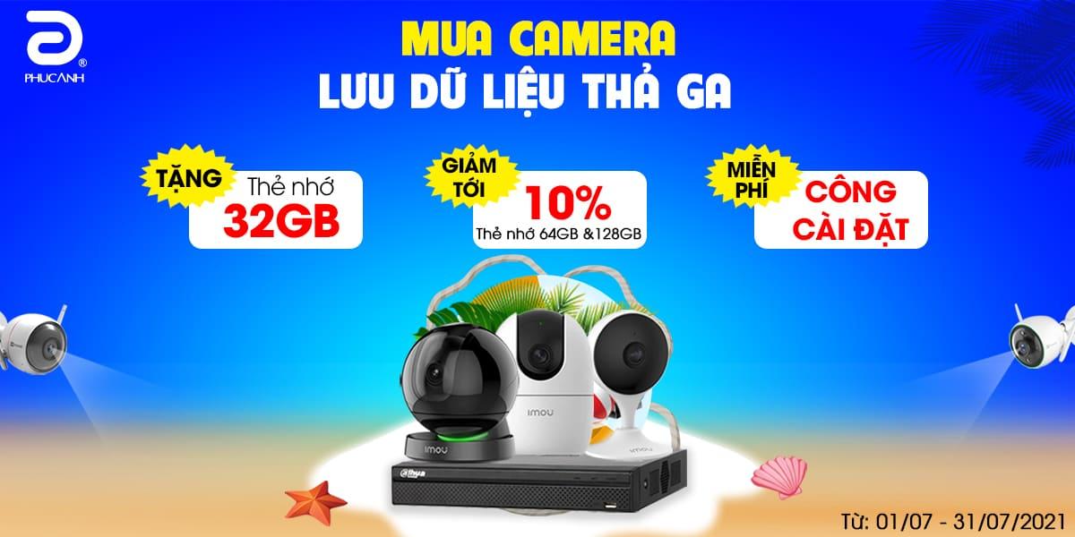 [Khuyến mại] Mua camera - Lưu dữ liệu thả ga