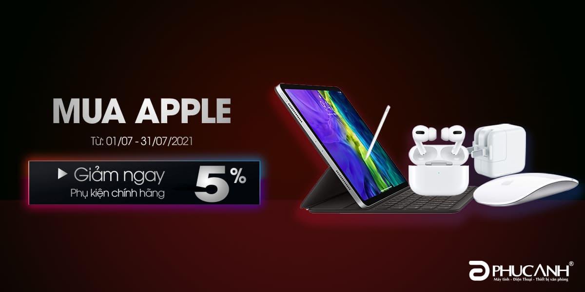 [Khuyến mại] Mua Apple giảm ngay 5% phụ kiện chính hãng