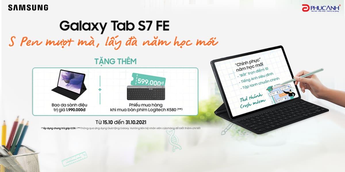 [Khuyến mại] Chinh phục năm học mới nhờ Galaxy Tab S7 FE