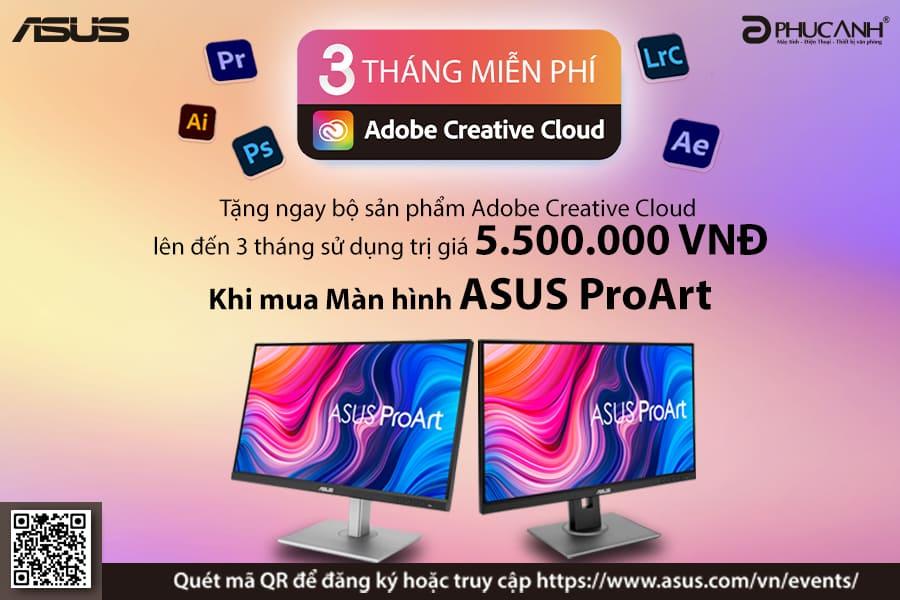 [Khuyến mại] Sắm màn hình Asus - Nhận ngay bộ quà Adobe Creative Cloud