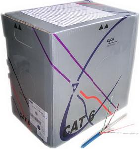 Cáp mạng Commscope/AMP CAT6, 4UTP,24AWG,CM,BLUE 1427071-6 (305m/cuộn)