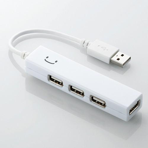 Bộ chia USB 1 ra 4 Elecom U2H-SS4BF2WH (USB2.0-trắng)