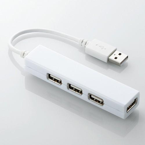 Bộ chia USB 1 ra 4 Elecom U2H-SS4BWH (USB2.0-trắng)