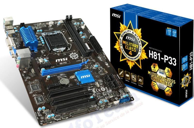 MSI H81M-P33 (Chipset Intel H81/ Socket SK1150/ VGA onboard)