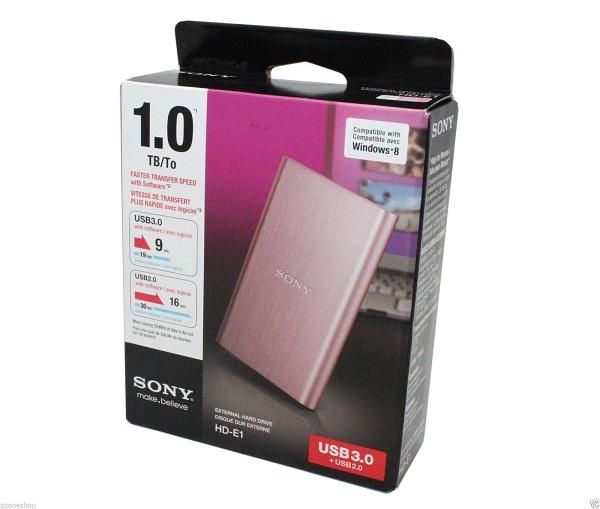 Ổ cứng di động Sony 1Tb USB3.0 Hồng