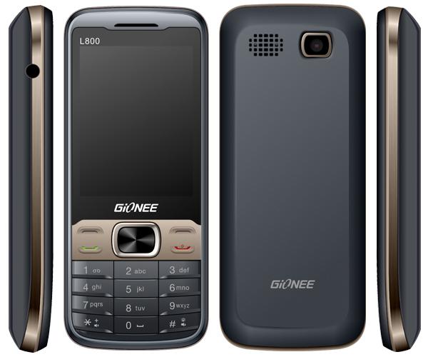 Gionee  L800 (Gray)- 2.6Inch/ 2 Sim