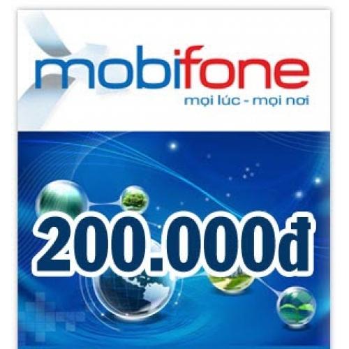 Thẻ điện thoại Mobifone 200.000 đồng