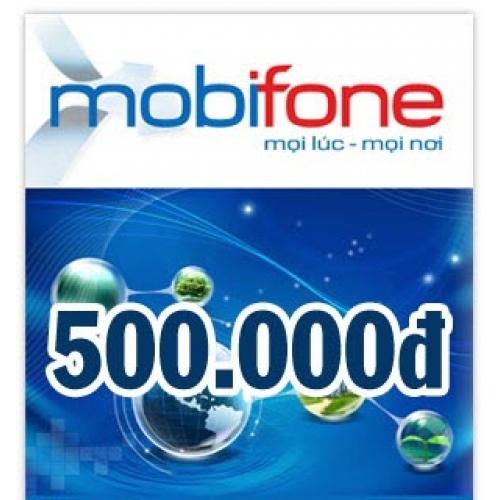 Thẻ điện thoại Mobifone 500.000 đồng