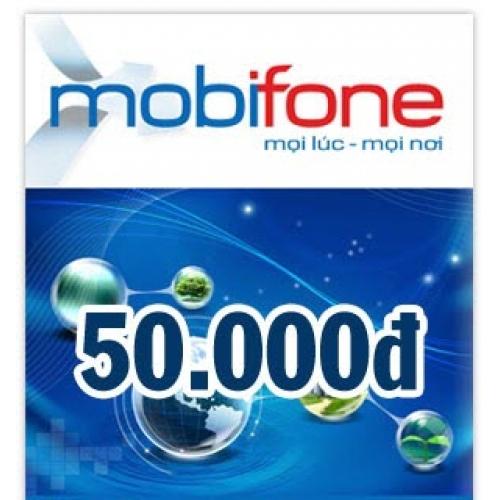 Thẻ điện thoại Mobifone 50.000 đồng