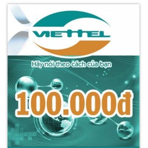 Thẻ điện thoại Viettel 100.000 đồng