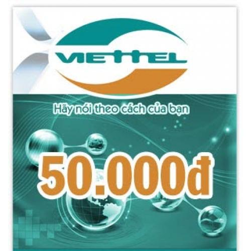 Thẻ điện thoại Viettel 50.000 đồng