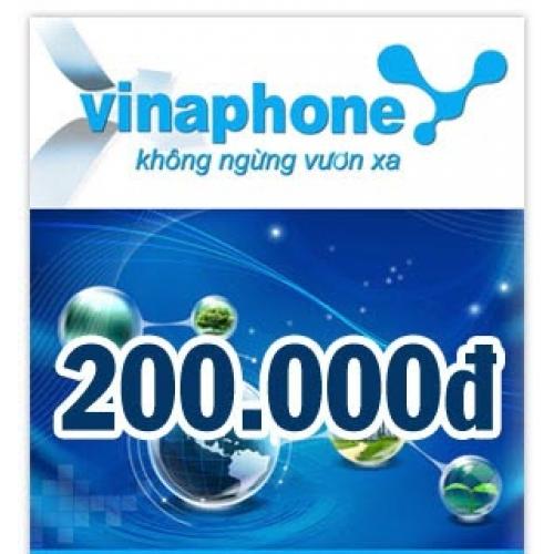 Thẻ điện thoại Vinaphone 200.000 đồng