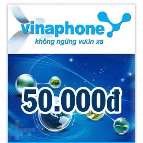 Thẻ điện thoại Vinaphone 50.000 đồng