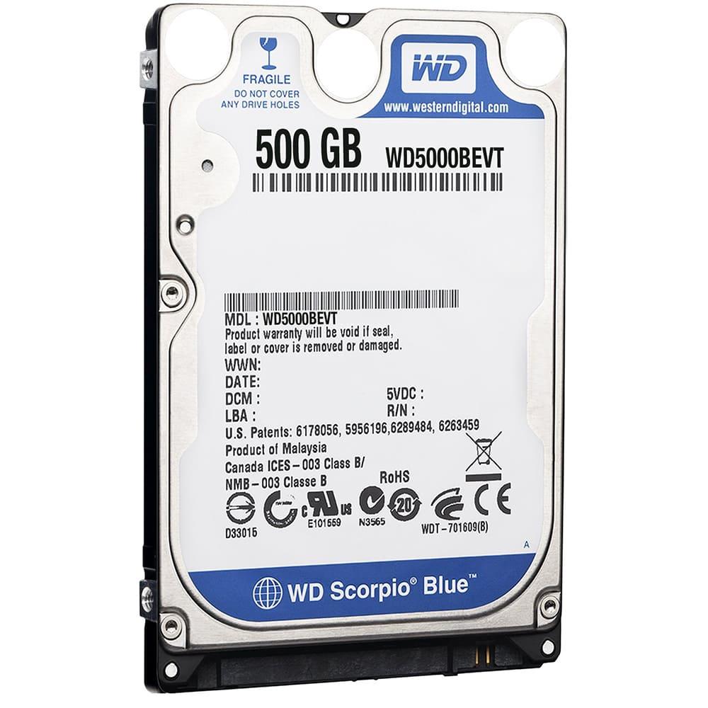 Ổ cứng MTXT Western Digital Western Scorpio Blue 500Gb SATA3