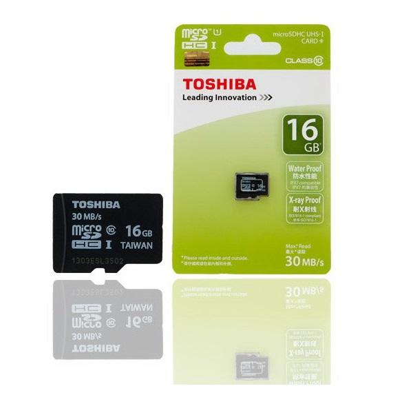 Thẻ nhớ Micro SD Toshiba 16Gb Clas 10
