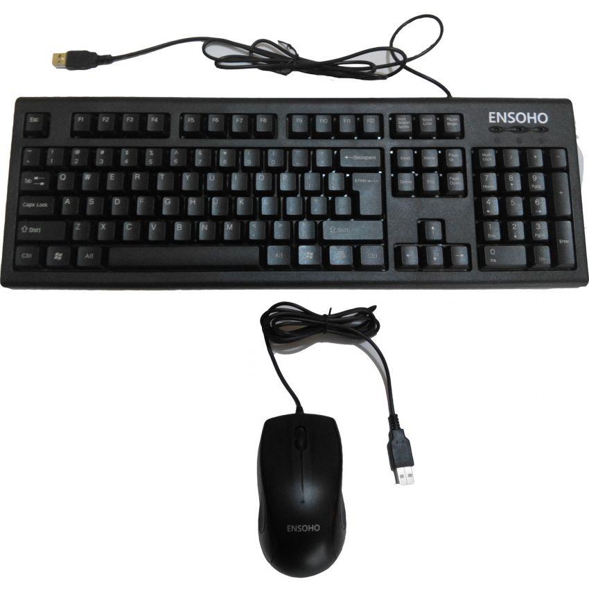 Bộ bàn phím chuột quang có dây Ensoho E-103CB