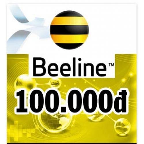 Thẻ điện thoại Beeline 100.000 đồng