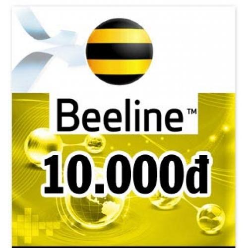 Thẻ điện thoại Beeline 10.000 đồng