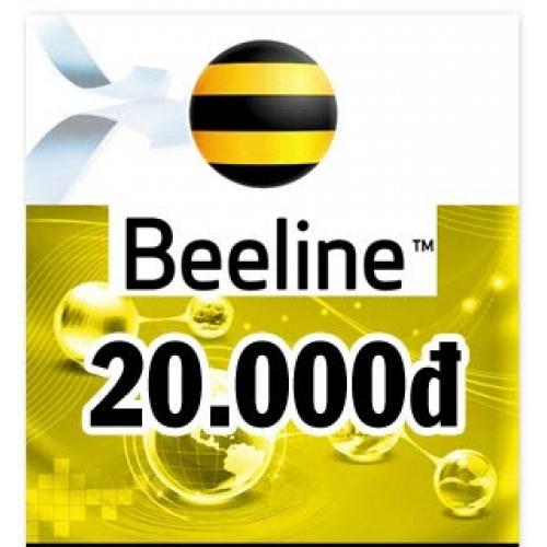 Thẻ điện thoại Beeline 20.000 đồng
