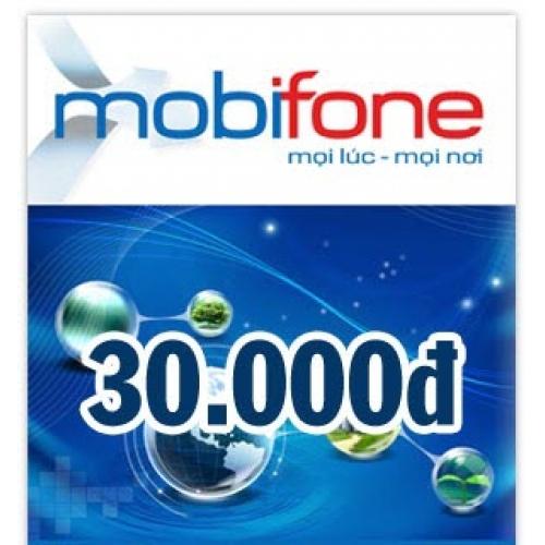 Thẻ điện thoại Mobifone 30.000 đồng